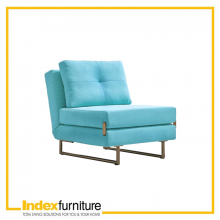 GENNARO FABRIC SOFA BED (1/S) - TURQUOISE