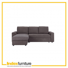 DOMINUS FABRIC SOFA L-SHAPE/RIGHT - BROWN