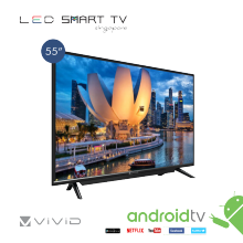 "VIVID 55""  SMART  LED  TV WITH SOUND BAR"