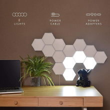 Quantum Hexagonal Lamps Modular Touch X 8pcs