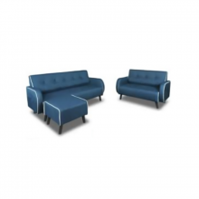 STOOL FABRIC SOFA SET 2+3+1 - DARK BLUE