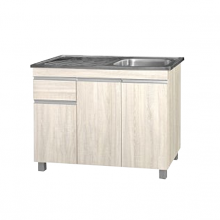 KITCHEN  CABINET WITH BASIN (K/D) - BUTTERNUT