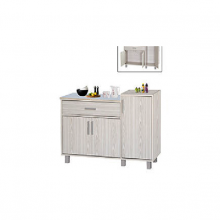 KITCHEN GAS CABINET (K/D) - WHITE WASH