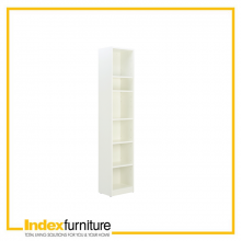 LIVIO/P high bookcase 40 cm - White