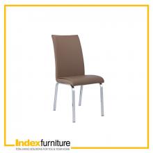 SAVA Dining Chair - CHROME/CA