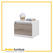 VINCE NIGHT TABLE 45 CM. - WHITE