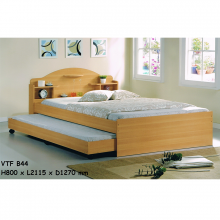 4ft Bed With 3ft Pullout Bed - Beech