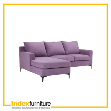 VIVEAN SOFA L-SHAPE/RIGHT FABRIC - VIOLET