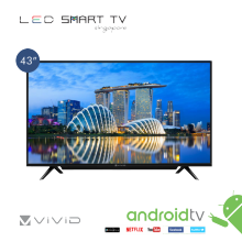 "VIVID 43"" SMART  LED  TV WITH SOUND BAR"