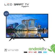 "VIVID 43"" SMART  LED  TV WITH SOUND BAR"