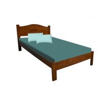 WOODEN SINGLE BED- WALNUT & DIRTY OAK