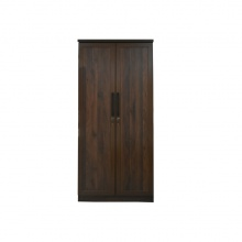 WARDROBE 2 DOOR - COLUMBIA OAK