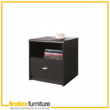 WINNER NIGHT STAND - BLACK BROWN