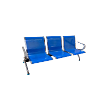 STEEL BENCH SET 3 SEATER - BLUE