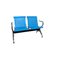 STEEL BENCH SET 2 SEATER - BLUE