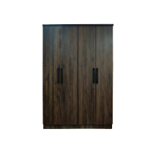 WARDROBE 4 DOOR - COLUMBIA OAK