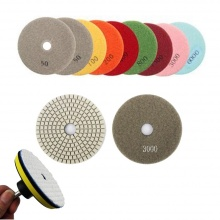 Diamond Polishing Pad 4'' 400 Diamond Light