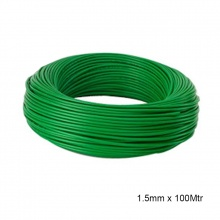 WIRE PVC COATED 1.5mm x 100MTR GREEN