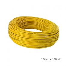WIRE PVC COATED 1.5mm x 100MTR YELLOW