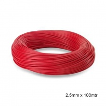WIRE PVC COATED 2.5MM x 100MTR RED