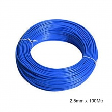 WIRE PVC COATED 2.5MM x 100MTR BLUE