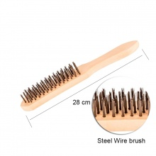 STEEL WIRE BRUSH WOODEN HANDLE