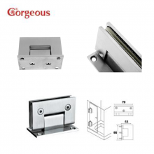 B300B square 90 degree glass door hinge