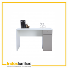 STYLO WORKING TABLE HI-GLOSS 120 CM. - WHITE/SANDSTONE