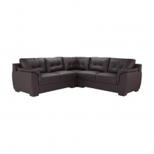 DOVY PVC CORNER SOFA - DARK BROWN