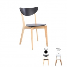 MAWIN/L DINING CHAIR - BK/NT