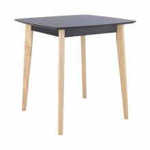 MAWIN DINING TABLE 75 X 75 CM. - BLACK / NATURAL