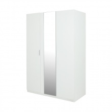 VIVID 3 DOOR WARDROBE - WHITE