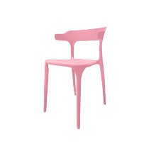 CHAIR PLASTIC HOME SHAPE PINK