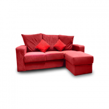 SOFA SET L-SHAPE GH-988 WITH POLYSTER BACK REST MAROON