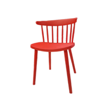 CHAIR WINDSOR PLASTIC-1 RED