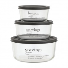 HUNGRY FOOD CONTAINER 6 PCS/SET BK