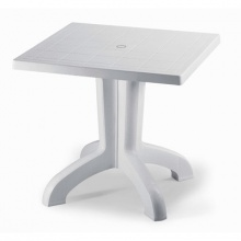 Plastic Table White Ribalto 1829