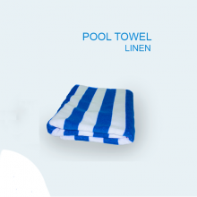 Pool Towel Blue and White Stripes