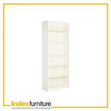 LIVIO/P High Book Case 80cm - White