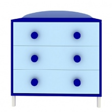 BUBBLE Chest of 3 Drawers