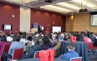 Weston Smith addresses students