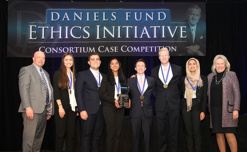 Eccles School teams take top spots at national Daniels Fund Ethics Initiative case competition