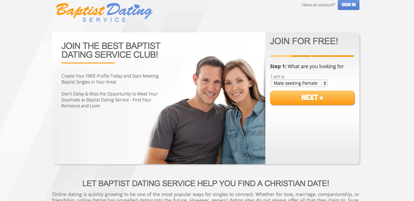 Baptist Dating Service