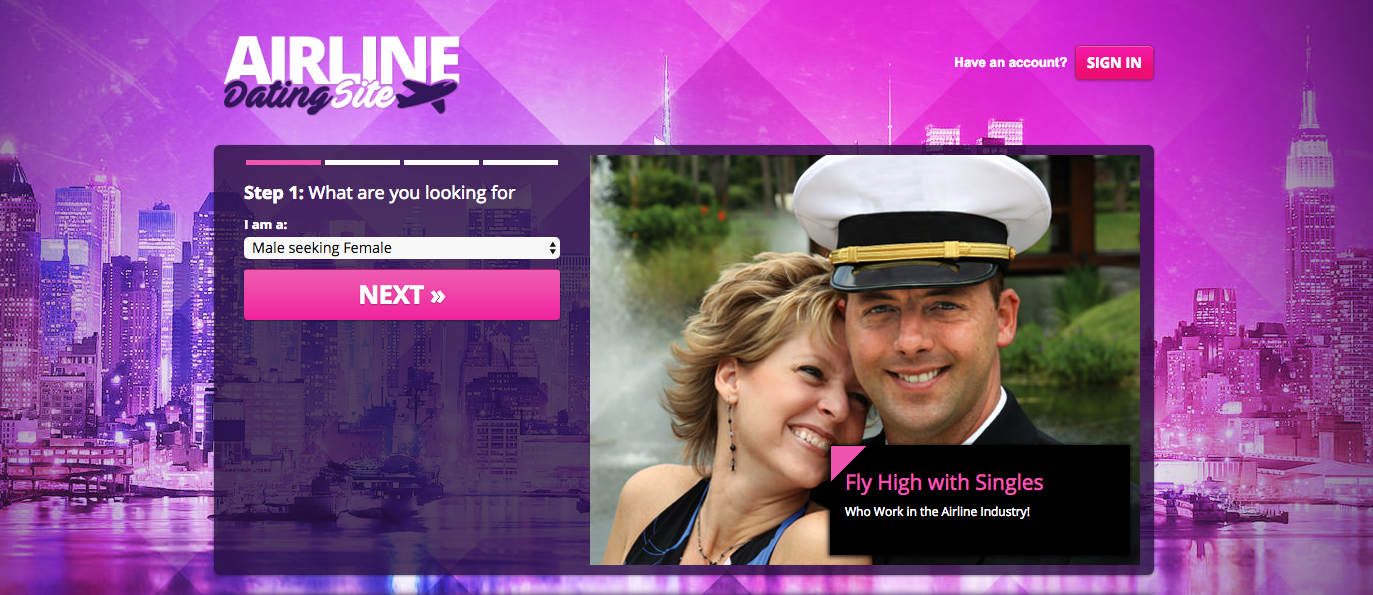 Airline Dating Site