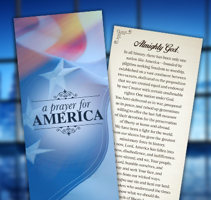 A Prayer for America Bible Bookmark
