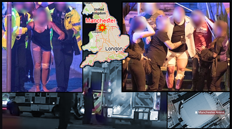 לפחות 22 הרוגים ומעלה מ-60 פצועים בהתפוצצות של מחבל מתאבד בקונצרט פופ במנצ'סטר בבריטניה