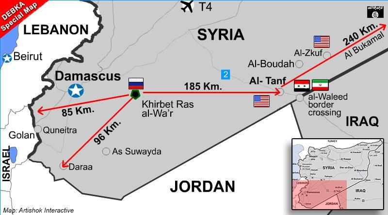 רוסיה מקימה בסיס צבאי במזרח סוריה. פעם ראשונה שכוחות רוסיים מוצבים מול כוחות אמריקנים,ישראליים וירדניים שעל גבולות סוריה