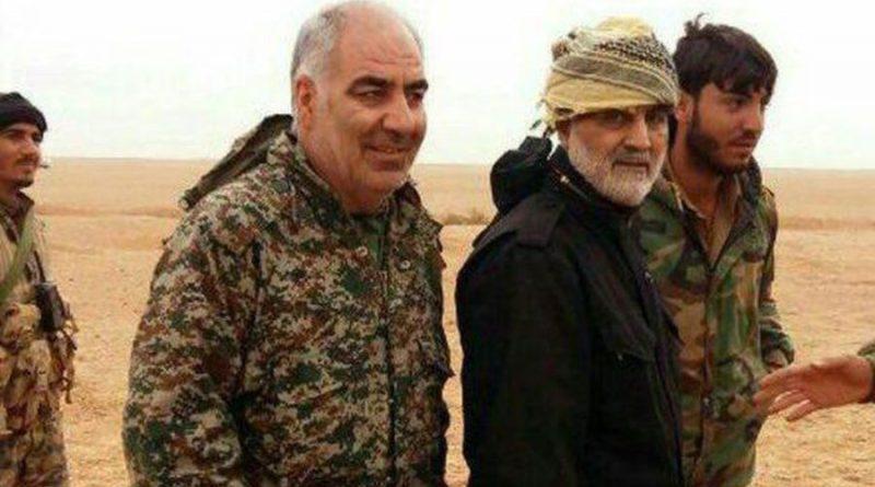 """הגנרל קסאם סוליימני בראש החפ""""ק של משמרות המהפכה וחיזבאללה העיראקי-כבשו את אבו קמאל. סגנו חאיראללה סאמדי נהרג בקרבות"""