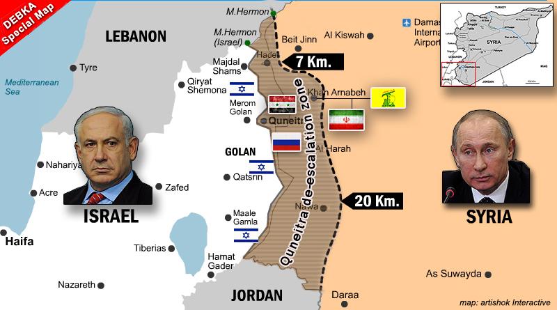 בשיחת פוטין-נתניהו לא הושגה הסכמה לגבי הרחקת כוחות איראן וחיזבאללה מגבול ישראל ברמת הגולן