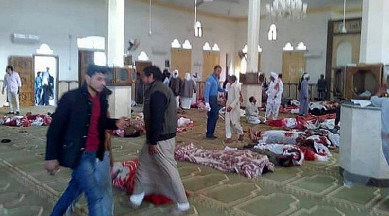 לפחות 300 נפגעים, מהם למעלה מ-235 הרוגים בהתקפה של ISIS-סיני, על מסגד  בו התפללו אנשי ביטחון מצריים בביר אל-עבד בצפון סיני